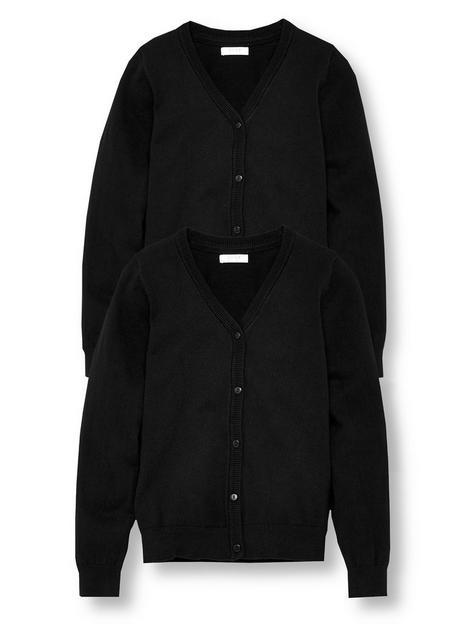 v-by-very-girls-2-pack-school-cardigans-black