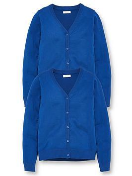 v-by-very-girls-2-pack-school-cardigans-royal-blue