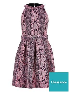 river-island-girls-snake-print-belted-prom-dress-pink
