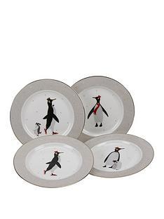 sara-miller-penguin-cake-plates-ndash-set-of-4