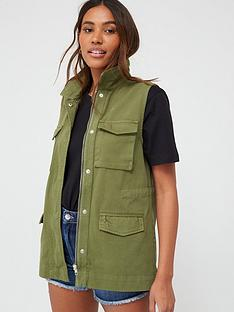 v-by-very-utility-sleeveless-gilet-khaki