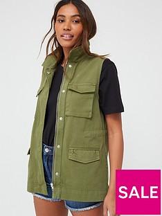 v-by-very-utility-sleeveless-gilet-khaki