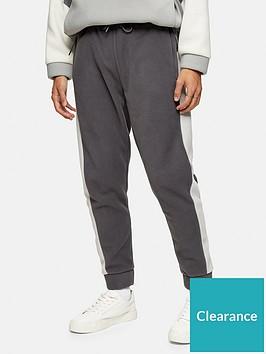 topman-polar-fleece-joggers-grey