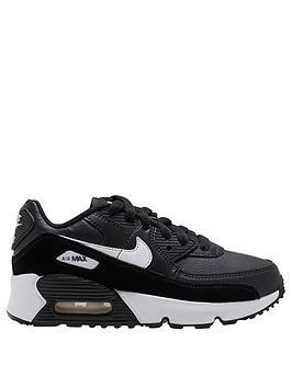 nike-air-max-90-leather-childrens-trainer-blackwhite