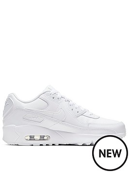 nike-air-max-90-leather-junior-trainers-white