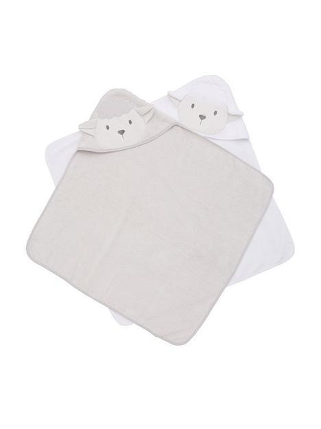 v-by-very-baby-giftingnbspbaby-unisex-2-pack-lambnbsptowels-cream