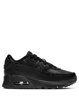 nike-air-max-90-leather-childrens-trainers-black