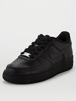 nike-air-force-1-junior-trainers-black