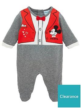 mickey-mouse-baby-sleepsuit-dark-grey