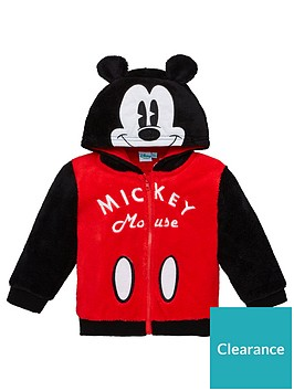 mickey-mouse-baby-boys-ears-hoodie-red