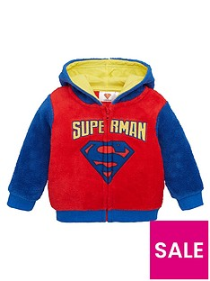 superman-boys-zip-through-fleece-hoodie-blue