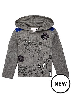 spiderman-hooded-top-grey