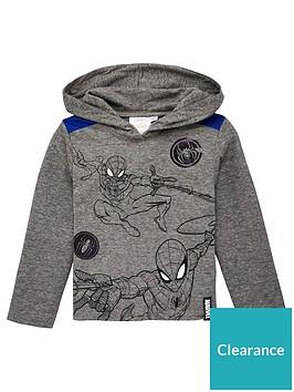 spiderman-hooded-top-grey