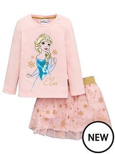 disney-frozen-girls-long-sleeve-t-shirt-and-skirt-set-pink
