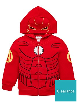 the-avengers-zip-through-hoodie-red