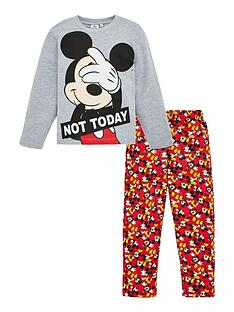mickey-mouse-not-today-pyjamas-light-grey