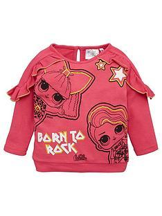 lol-surprise-frill-sweatshirt-fluoro-pink