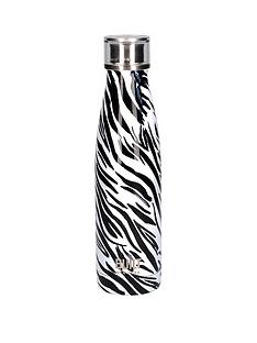 built-hydration-double-walled-stainless-steel-water-bottle-ndash-zebra-print