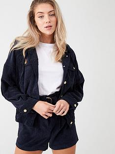 river-island-river-island-cord-hooded-bomber-jacket-navy