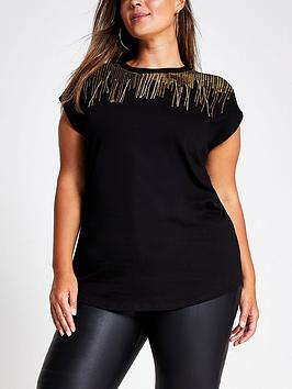 ri-plus-sparkle-drip-neck-t-shirt--black
