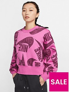prod1089304171: NSW Icon Clash Sweatshirt - Fuchsia