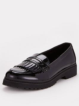 v-by-very-girls-tassel-leather-school-loafer-black