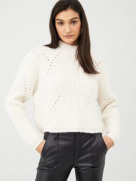 v-by-very-chunky-rib-high-neck-cropped-jumper-cream