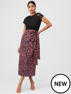little-mistress-two-in-one-midaxi-dress-with-printed-skirt-multi