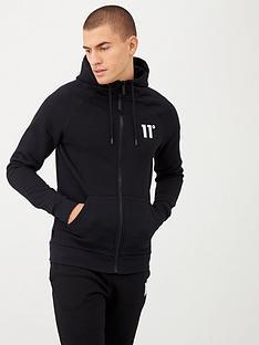 11-degrees-core-full-zip-hoodie-black