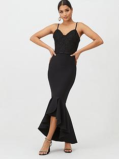 u-collection-forever-unique-strappy-bandage-maxi-dress-black