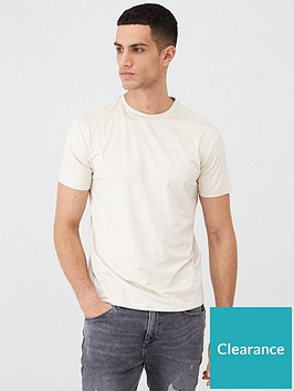 river-island-stone-faux-suede-slim-fit-t-shirt