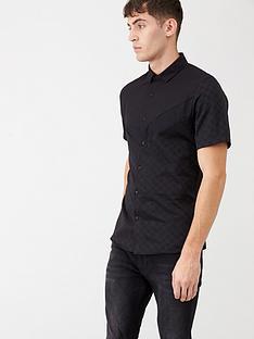 river-island-black-ri-monogram-chervon-slim-fit-shirt