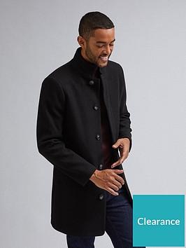 burton-menswear-london-burton-menswear-london-funnel-neck-coat-black