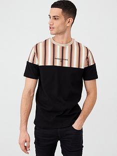 river-island-black-ombre-stripe-blocked-slim-fit-t-shirt