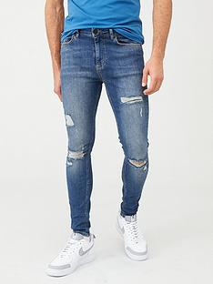 11-degrees-essential-super-stretch-distressed-skinny-jeans-blue