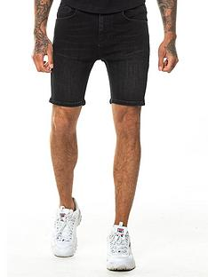11-degrees-rip-amp-repair-skinny-fit-denim-shorts-black