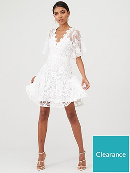 u-collection-forever-unique-floral-lace-skater-dress-ivory