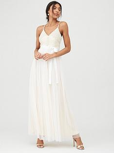u-collection-forever-unique-bridal-pearl-embellished-top-bow-belt-maxi-dress-ivory