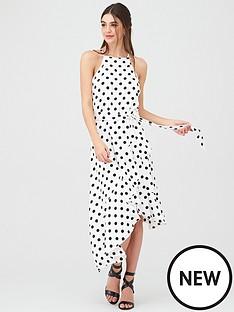 u-collection-forever-unique-u-collection-forever-unique-spot-halter-neck-dress