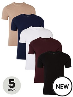 river-island-multicoloured-muscle-fit-t-shirt-5-pack