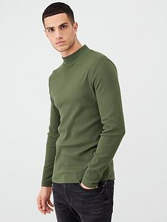 river-island-khaki-turtle-neck-long-sleeve-t-shirt