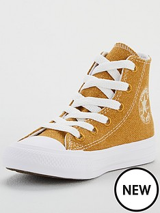 converse-chuck-taylor-all-star-hi-renew-cotton-childrens-trainers-brownwhite