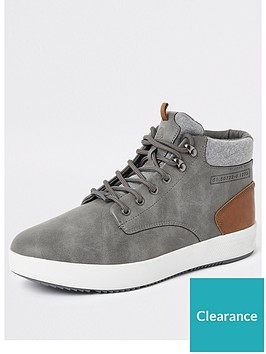 river-island-grey-faux-leather-mid-top-trainers