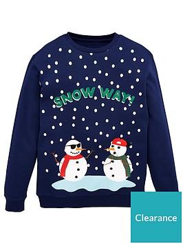 v-by-very-boys-snow-way-snowman-christmas-sweatshirt-blue