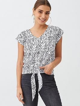 v-by-very-tie-front-top-leopard
