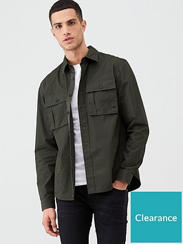 river-island-dark-green-long-sleeve-regular-fit-overshirt