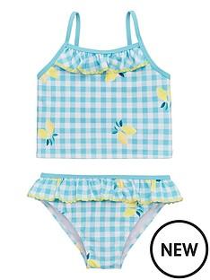 v-by-very-girls-lemon-print-gingham-tankini-mint