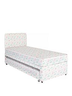 airsprung-kidsnbspdivannbspguest-bed-and-headboard-set--nbspbutterfly-printnbsp