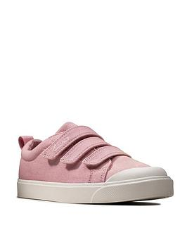 clarks-girlsnbspcity-vibe-canvas-shoe-pink