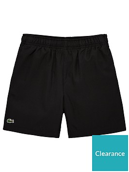 lacoste-sports-boys-classic-poly-shorts-black